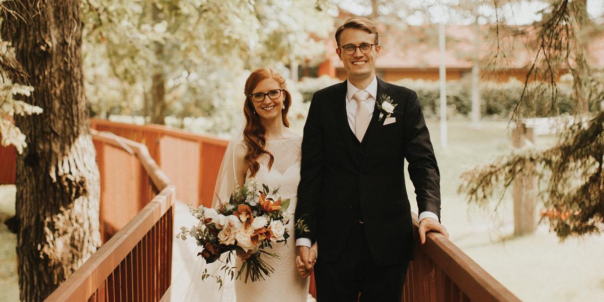 Jordan with his wife Emma DeMartelaere.